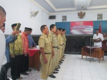 Pengambilan Sumpah dan Pelantikan Perangkat Desa Hasil SOTK Desa Kertosari